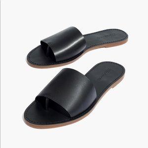 Black Madewell Sandal - Leather Slide
